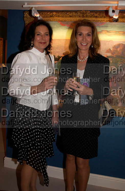 Lady Clark and Mrs. Amanda Ferragamo. The Grosvenor House Art and Antiques Fair charity Gala evening in aid of the NSPCC. 16 June2005. ONE TIME USE ONLY - DO NOT ARCHIVE  © Copyright Photograph by Dafydd Jones 66 Stockwell Park Rd. London SW9 0DA Tel 020 7733 0108 www.dafjones.com