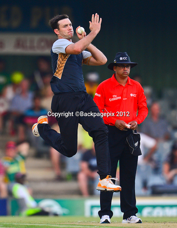 James Franklin of New Zealand during the 2012 KFC T20 International between South Africa and New Zealand at Buffalo Park in East London, South Africa on December 23, 2012 ©Barry Aldworth/BackpagePix