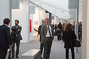CHARLES SAUMERAZ SMITH TAKING A TOUR OF RA PATRONS, Opening of Frieze Masters. Regent's Park. London. 15 October 2013.