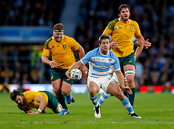 Argentina Winger Santiago Cordero breaks - Mandatory byline: Rogan Thomson/JMP - 07966 386802 - 25/10/2015 - RUGBY UNION - Twickenham Stadium - London, England - Argentina v Australia - Rugby World Cup 2015 Semi Finals.