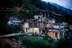 View of McLeod Ganj, Dharamsala, India, where the Dalai Lama settled after fleeing Tibet in 1959 after a failed uprising against Chinese rule, June 1, 2009.