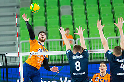 Vucicevic Bozidar of ACH Volley during Champions League match between ACH Volley Ljubljana and Fakel Novy Urengoy, on February 19, 2020 in Hala Tivoli, Ljubljana, Slovenia. Photo by Ziga Zupan / Sportida