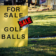 Golf balls are for sale and on sale in Eagle, Colorado.