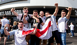 Fans celebrate England's win over Wales after watching the game on big screens at Ashton Gate - Mandatory by-line: Robbie Stephenson/JMP - 16/06/2016 - FOOTBALL - Ashton Gate - Bristol, United Kingdom  - England vs Wales - UEFA Euro 2016