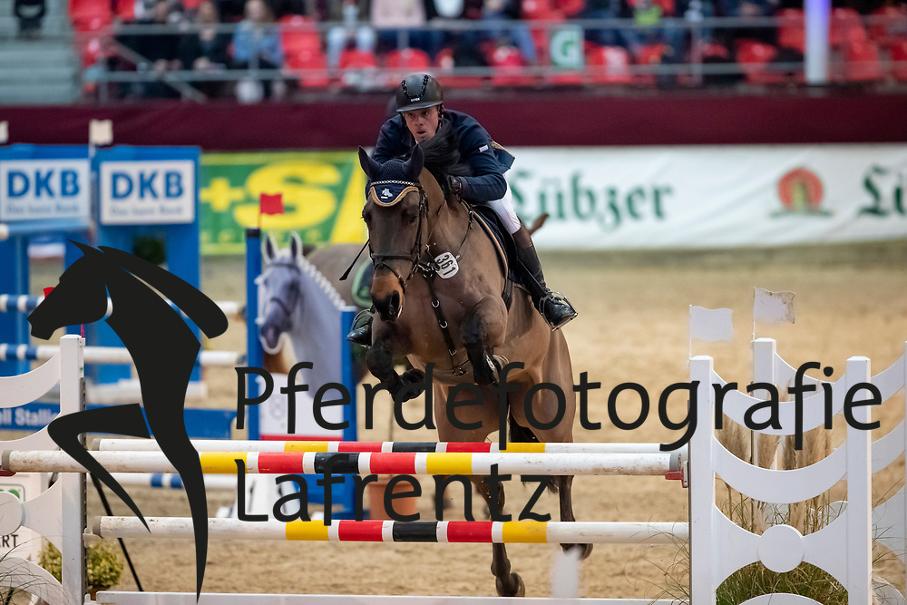 BRUHNS Robert (GER), La Nessa<br /> Neustadt-Dosse - CSI 2019<br /> 2. Qualifikation Youngster Tour für 7 und 8 jährige Pferde<br /> 11. Januar 2019<br /> © www.sportfotos-lafrentz.de/Stefan Lafrentz
