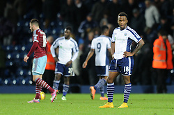 West Bromwich Albion's Saido Berahino cuts a dejected figure - Photo mandatory by-line: Dougie Allward/JMP - Mobile: 07966 386802 - 02/12/2014 - SPORT - Football - West Bromwich - The Hawthorns - West Bromwich Albion v West Ham United - Barclays Premier League