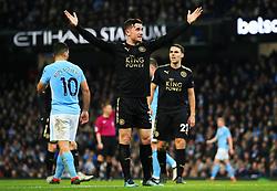 Ben Chilwell of Leicester City reacts - Mandatory by-line: Matt McNulty/JMP - 10/02/2018 - FOOTBALL - Etihad Stadium - Manchester, England - Manchester City v Leicester City - Premier League