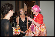 LAURA BAILEY; GRAYSON PERRY, Royal Academy of Arts Summer Exhibition 2014. Piccadilly. London. 4 June 2014.