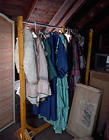 Clothing Hanging on Rack