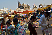 Market along the Godavari River Kumbhmela pilgrim site - Nashik, India