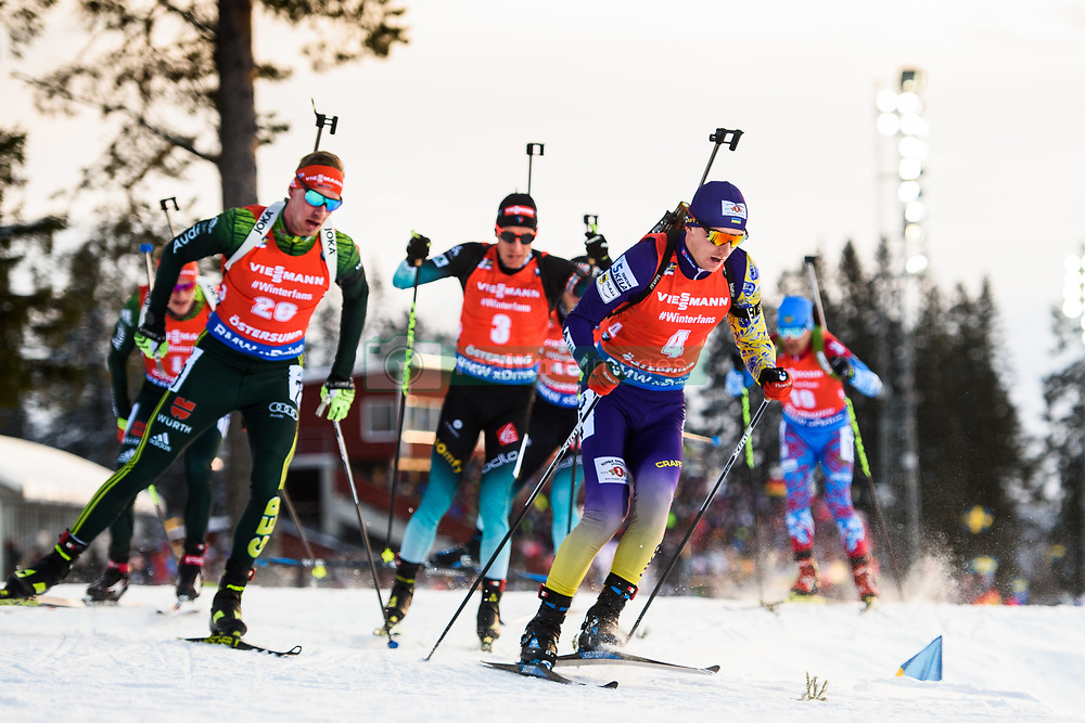 March 10, 2019 - –Stersund, Sweden - 190310 Antonin Guigonnat of France, Quentin Fillon Maillet of France and Dmytro Pidruchnyi of Ukraine during the Men's 12,5 km Pursuit during the IBU World Championships Biathlon on March 10, 2019 in Östersund..Photo: Petter Arvidson / BILDBYRÃ…N / kod PA / 92255 (Credit Image: © Petter Arvidson/Bildbyran via ZUMA Press)