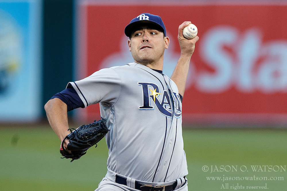 OAKLAND, CA - JULY 21:  Matt Moore #55 of the Tampa Bay Rays pitches against the Oakland Athletics during the first inning at the Oakland Coliseum on July 21, 2016 in Oakland, California. (Photo by Jason O. Watson/Getty Images) *** Local Caption *** Matt Moore