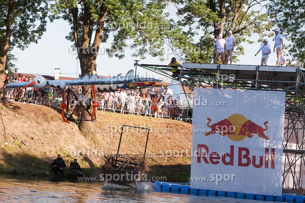 2. Red Bull Flugtag in Ljubljana at shoreline of river Ljubljanica , 16. June 2012 in Ljubjana, Slovenia (Photo by Grega Valancic / Sportida.com)