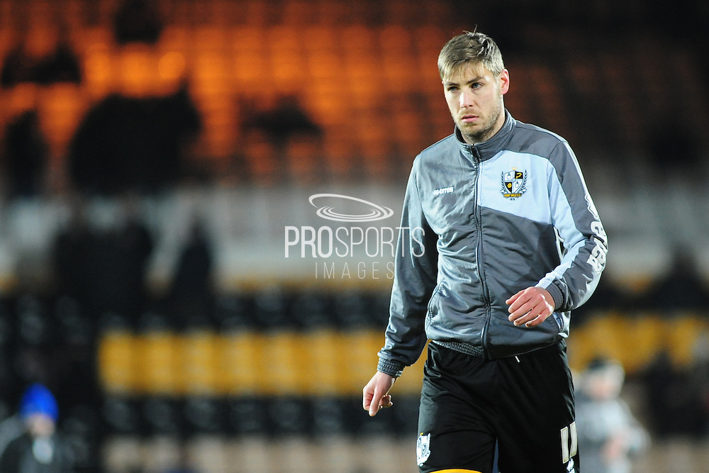 Sam Foley of Port Vale FC prior to the Sky Bet League 1 match between Port Vale and Southend United at Vale Park, Burslem, England on 26 February 2016. Photo by Mike Sheridan.