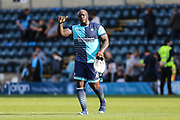 Wycombe Wanderers Adebayo Akinfenwa(20) during the EFL Sky Bet League 2 match between Wycombe Wanderers and Forest Green Rovers at Adams Park, High Wycombe, England on 2 September 2017. Photo by Shane Healey.