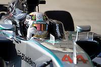 Race winner Lewis Hamilton (GBR) Mercedes AMG F1 W05 celebrates in parc ferme.<br /> United States Grand Prix, Sunday 2nd November 2014. Circuit of the Americas, Austin, Texas, USA.
