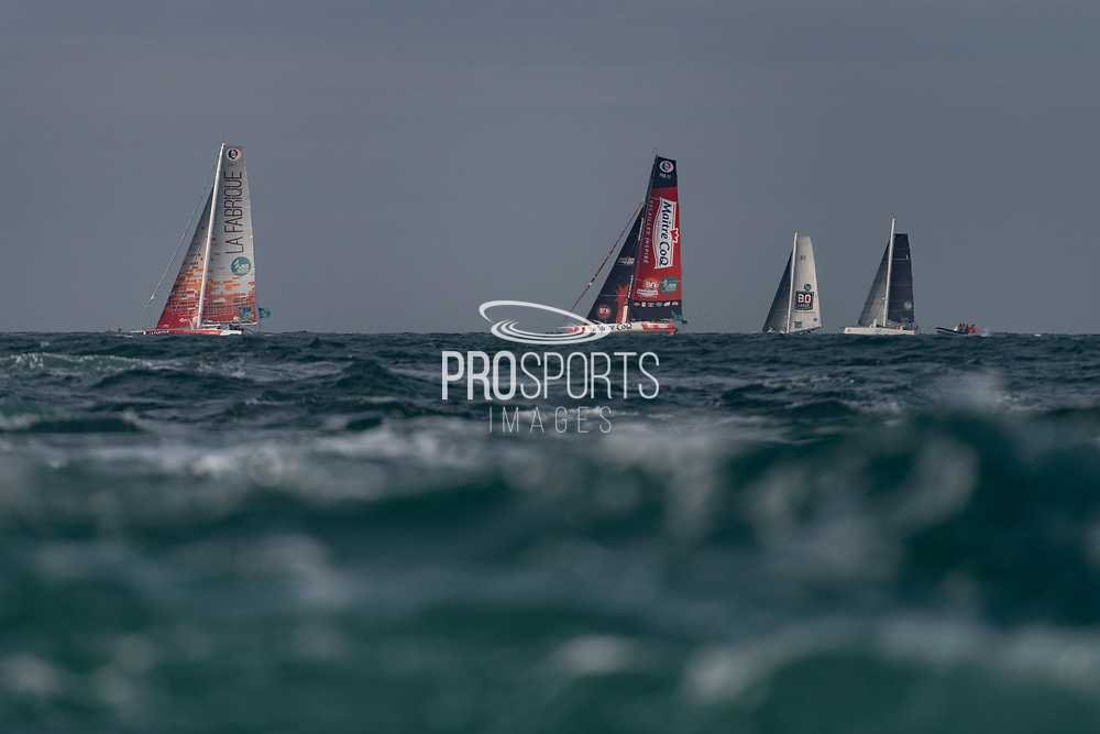 Fleet during the Route du Rhum 2018 race start in Saint Malo, France, on November 4th, 2018 - Photo Olivier Blanchet / ProSportsImages / DPPI