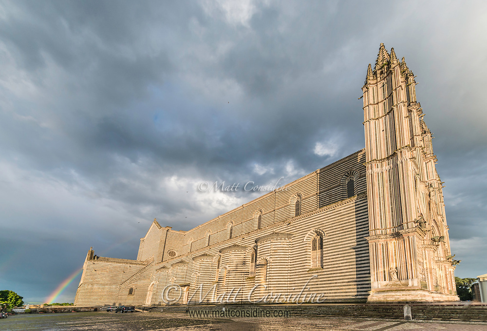 The cathedral is built with alternating layers of white travertine and blue-grey basalt stone. (Photo by Travel Photographer Matt Considine)