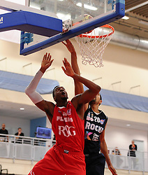 Bristol Flyers' Alif Bland scores a basket  - Photo mandatory by-line: Joe Meredith/JMP - Mobile: 07966 386802 - 11/04/2015 - SPORT - Basketball - Bristol - SGS Wise Campus - Bristol Flyers v Glasgow Rocks - British Basketball League