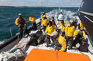 ENGLAND, Cowes. 10th August 2011. Training with Abu Dhabi Ocean Racing.