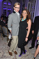 HENRY CONWAY and NATASHA CORRETT at the Quintessentially Foundation poker evening at The Savoy Hotel, London on 30th October 2012.