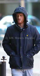 Manchester UK 18.10.2016: Paul Barnes after appearing at Manchester and Salford Magistrates court charged  with fraud by  false representation namely that between the 14.10.2014 and 25.03.2016 he submitted a compensation claim against   HMP Manchester for injuries sustained after a slip on water when in fact there was no slip and his subsequent injuries were self inflicted. He was seeking to get a financial compensation settlement<br /> <br /> Barnes is aged 32 his address is Lily Lane, Moston Manchster <br /> He pleaded not  guilty to fraud and will no stand trial on 1 count of fraud he was released on unconditioal bail.