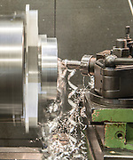 a Lathe Metal tooling shop floor