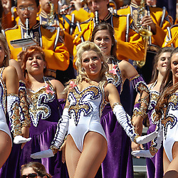 October 1, 2011; Baton Rouge, LA, USA;  LSU Tigers Golden Girls dance team performs in the stands during the fourth quarter of a game against the Kentucky Wildcats at Tiger Stadium. LSU defeated Kentucky 35-7. Mandatory Credit: Derick E. Hingle-US PRESSWIRE / © Derick E. Hingle 2011