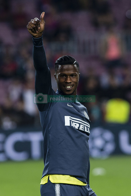 October 24, 2018 - Barcelona, Spain - 11 Keita Balde from Senegal of FC Internazionale Milano during the UEFA Champions League match between FC Barcelona v FC Internazionale Milano at Camp Nou Stadium, in Barcelona on 24 of October, 2018. (Credit Image: © Xavier Bonilla/NurPhoto via ZUMA Press)