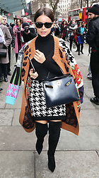 Miroslava Duma at the Christopher Kane show at London Fashion Week A/W 14, Monday, 17th February 2014. Picture by Stephen Lock / i-Images