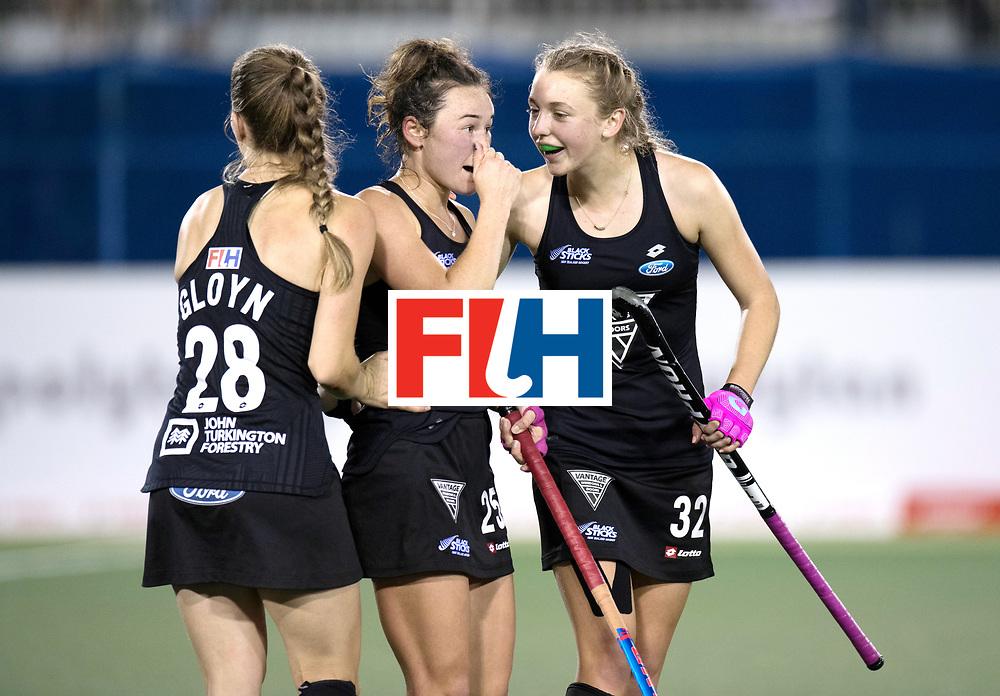 AUCKLAND - Sentinel Hockey World League final women<br /> Match id: 10304<br /> 14 ARG vNZL 1-2<br /> Foto: Shiloh Gloyn, Kelsey Smith and Madison Doar <br /> WORLDSPORTPICS COPYRIGHT FRANK UIJLENBROEK