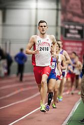 Boston University Multi-team indoor track & field, men's one mile, section 1, BU 2416