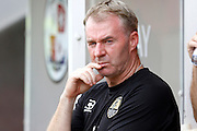 Notts County Manager John Sheridan during the EFL Sky Bet League 2 match between Crawley Town and Notts County at the Checkatrade.com Stadium, Crawley, England on 27 August 2016. Photo by Andy Walter.