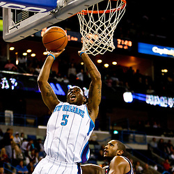 December 26, 2010; New Orleans, LA, USA; New Orleans Hornets guard Marcus Thornton (5) shoots against the Atlanta Hawks during the third quarter at the New Orleans Arena.  The Hornets defeated the Hawks 93-86. Mandatory Credit: Derick E. Hingle