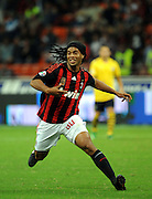 AC Milan's Ronaldinho in action during his UEFA Cup first round, second leg football match against FC Zurich on October 2, 2008 in Zurich.
