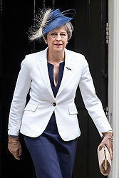 © Licensed to London News Pictures. 10/07/2018. London, UK. Prime Minister Theresa May leaves 10 Downing Street. Photo credit: Rob Pinney/LNP