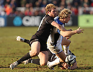 Newcastle - Sunday, March 7th, 2010: Carl Hayman of Newcastle Falcons and Nick Abendanon of Bath Rugby during the Guinness Premiership match at Newcastle. (Pic by Steven Hadlow/Focus Images)