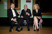 Master of Balliol Andrew Graham with Lord and Lady Weidenfeld. Celebration of Lord Weidenfeld's 60 Years in Publishing hosted by Orion. the Weldon Galleries. National Portrait Gallery. London. 29 June 2005. ONE TIME USE ONLY - DO NOT ARCHIVE  © Copyright Photograph by Dafydd Jones 66 Stockwell Park Rd. London SW9 0DA Tel 020 7733 0108 www.dafjones.com