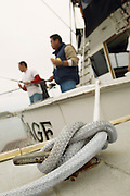 Sport Fishing Boat Tied to Dock
