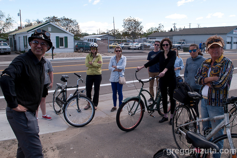 Jodi Eichelberger's ST(r)EAM Bike/Art tour through the Surel Mitchell Live-Work-Create District in Garden City, Idaho on April 30, 2016.<br /> <br /> Artists and venues on the tour included Surel's Place, Megan Levad, Sara Hill, Will Bennett, Victor Myers and Corridor Surf Shop, Geoffery Krueger, Karen Woods, Gina Phillips, Hindi Morland, Heidi Haislmaier and the new Telaya Winery where Segreto Wood Fired Pizza set up shop for the bike tour group.