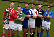 The ~Six Nations captains line up for the picture at the   2006 RBS Six Nations Rugby launch Press Conference,  held at the Hurlingham Club, Fulham. London ENGLAND,  on 25.01.2006 Gareth Thomas [Wales], Brian O'Driscoll [Ireland],  Jerome Thoin [France], Martin Corry [England], Jason White [Scotland], Marco Bortolami [Italy]    © Peter Spurrier/Intersport Images - email images@intersport-images.   [Mandatory Credit, Peter Spurier/ Intersport Images].