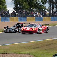 #59 Ferrari 458 italia, Luxury Racing, #33 HPD ARX 03b Honda, Level 5 Motorsports, Le Mans 24H, 2012