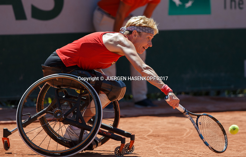 Sabine Ellerbrock (GER), Womens Wheelchair Tennis Final<br /> <br /> Tennis - French Open 2017 - Grand Slam / ATP / WTA / ITF -  Roland Garros - Paris -  - France  - 10 June 2017.