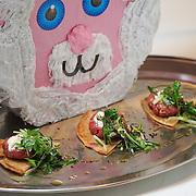 Lamb Jam Seattle, Middle Eastern contestant: Kedi Makan, Chef Kevin Burzell (kibbeh minced lamb, scallions, bulgar, yogurt, sumac, flat bread).