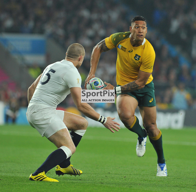 Israel Folau of Australia during the IRB RWC 2015 Pool A match between England and Australia at Twickenham Stadium on Saturday 3 October 2015, London, England. (c) Ian Nancollas | SportPix.org.uk