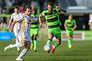 Forest Green Rovers Christian Doidge(9) controls the ball during the EFL Sky Bet League 2 match between Forest Green Rovers and Milton Keynes Dons at the New Lawn, Forest Green, United Kingdom on 30 March 2019.