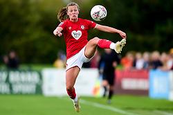 Charlie Wellings of Bristol City controls the ball in midair - Mandatory by-line: Ryan Hiscott/JMP - 29/09/2019 - FOOTBALL - SGS College Stoke Gifford Stadium - Bristol, England - Bristol City Women v Chelsea Women - FA Women's Super League