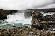 Lake Myvatn, Iceland Godafoss waterfall (Fall of the Gods), between Akureyri and Myvatn