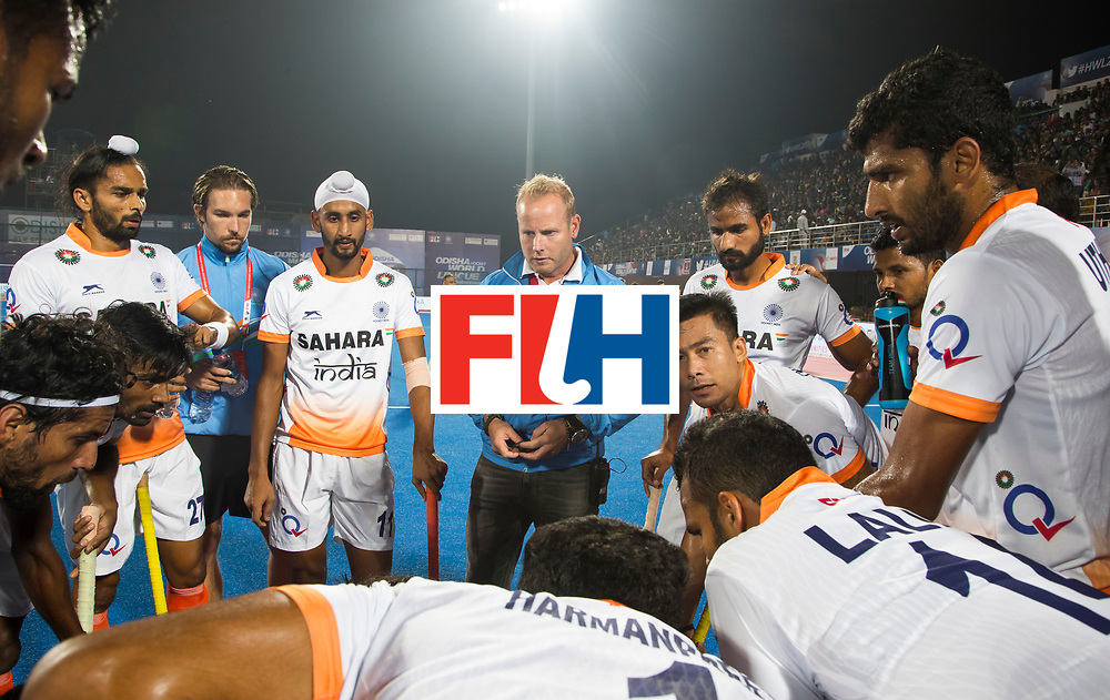 BHUBANESWAR - The Odisha Men's Hockey World League Final . Match ID 06 . India v England. coach Sjoerd Marijne (Ind)    WORLDSPORTPICS COPYRIGHT  KOEN SUYK
