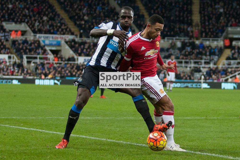 Newcastle v Manchester Utd 12 January 2016<br />Sissoko and Memphis<br />(c) Russell G Sneddon / SportPix.org.uk